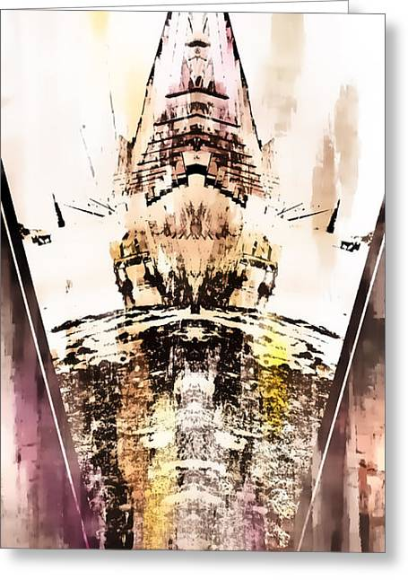 Tower Abstract Greeting Card by Tom Gowanlock