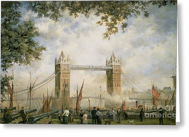 Urbam Greeting Cards - Tower Bridge - From the Tower of London Greeting Card by Richard Willis