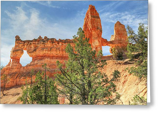 Fairyland Greeting Cards - Tower Bridge At Bryce Canyon Greeting Card by Donna Kennedy