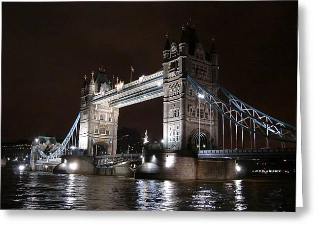 Roberto Alamino Greeting Cards - Tower Bridge by Night Greeting Card by Roberto Alamino