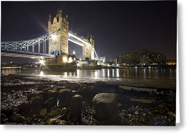 Famous Bridge Greeting Cards - Tower Bridge, London Greeting Card by Mike Sannwald