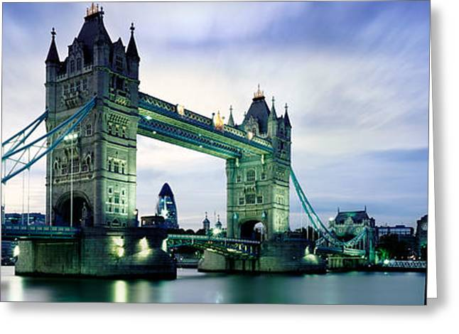 Illuminate Greeting Cards - Tower Bridge - London Greeting Card by Rod McLean