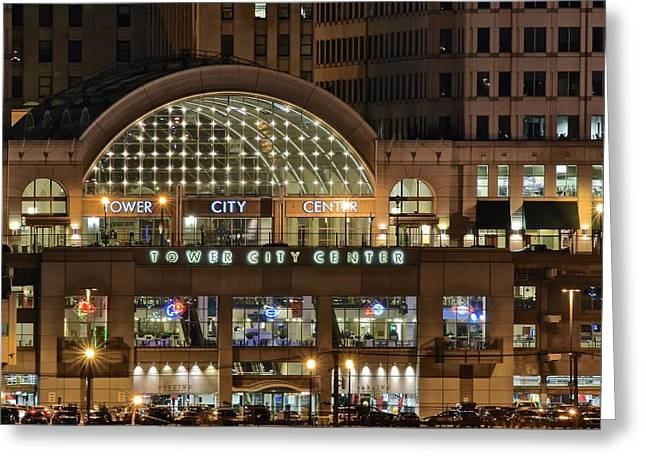 Town Square Greeting Cards - Tower City Up Close Greeting Card by Frozen in Time Fine Art Photography