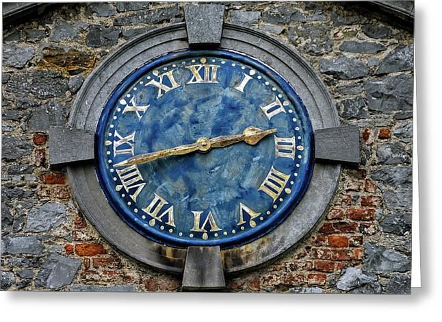 Tower Clock Greeting Card by Chris Buff
