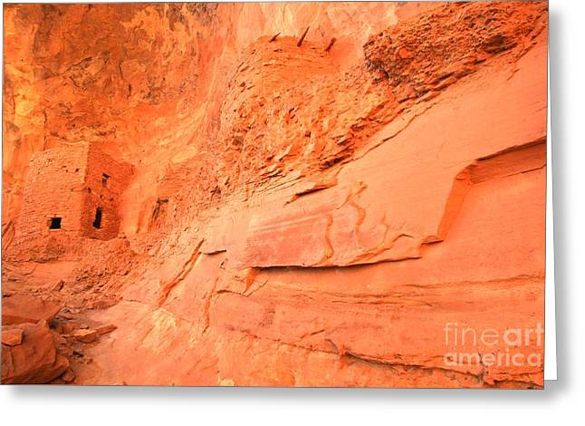 Ut Tower Greeting Cards - Tower House In The Cliff Greeting Card by Adam Jewell