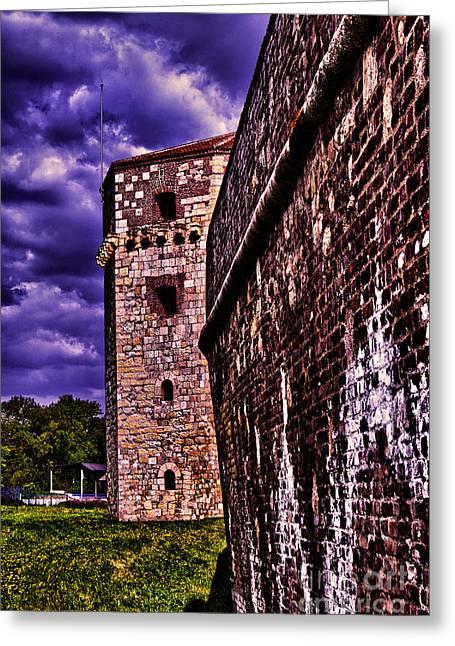 Kalemegdan Greeting Cards - Tower Nebojsa Fortress Kalemegdan Belgrade Greeting Card by Milan Karadzic