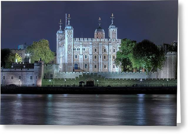 Tower Of London Greeting Card by Joana Kruse