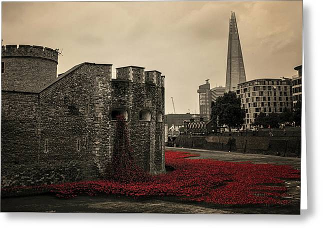 Tower Of London Greeting Card by Martin Newman