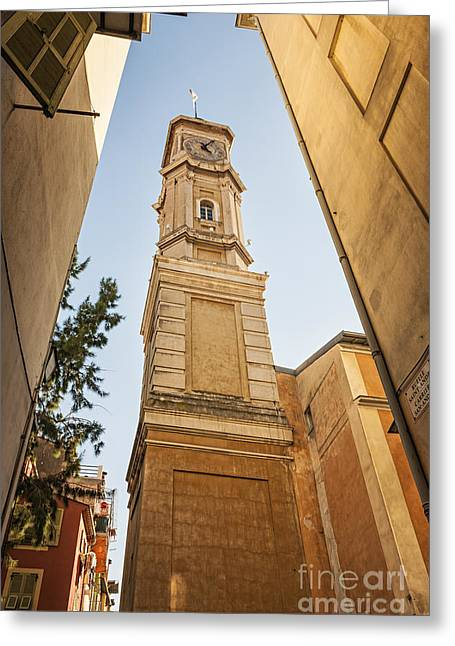 Street View Greeting Cards - Tower of Saint Francois in Nice Greeting Card by Elena Elisseeva