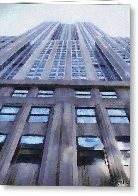 Stone Greeting Cards - Tower of Steel and Stone Greeting Card by Jeff Kolker