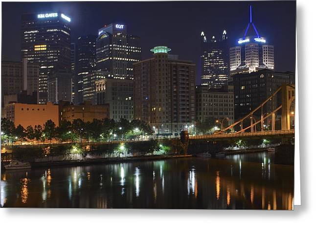 Clemente Greeting Cards - Towering over the River Greeting Card by Frozen in Time Fine Art Photography