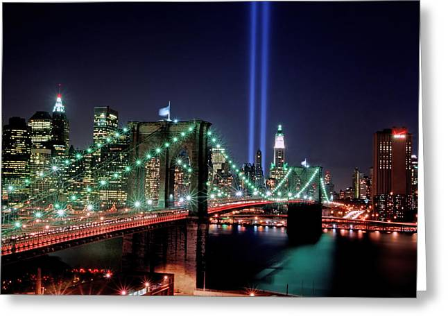 Wtc 11 Greeting Cards - Towers of Light 1 Greeting Card by Tom Callan