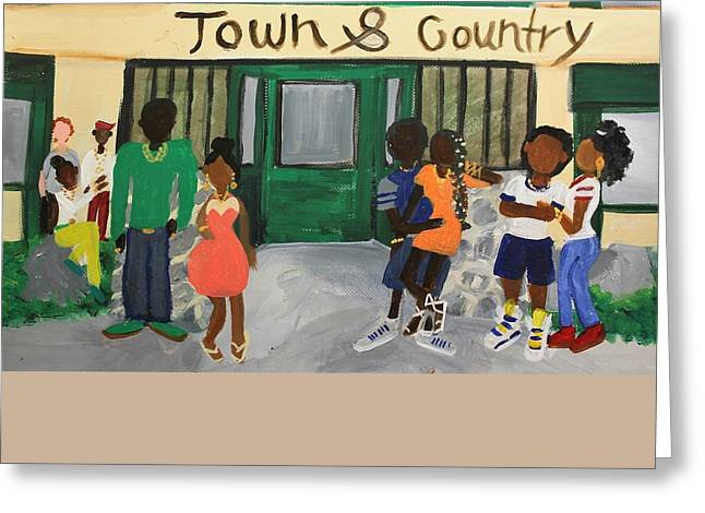 Gameroom Greeting Cards - Town and Country before the gates Greeting Card by Autoya Vance-Liggins