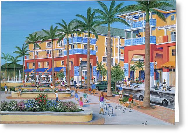 Rogers Greeting Cards - Town Center Abacoa Jupiter Greeting Card by Marilyn Dunlap