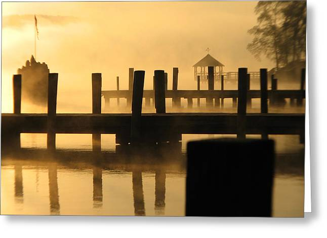 Www Greeting Cards Greeting Cards - Town Docks Greeting Card by Michael Mooney
