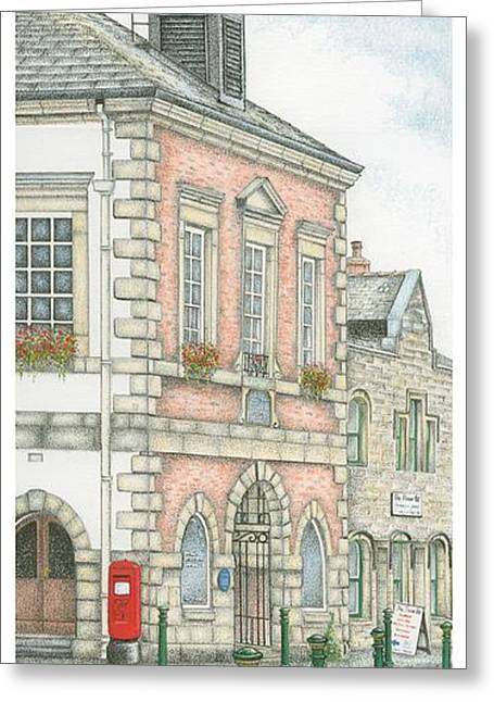 Wind Vane Greeting Cards - Town Hall Clock Garstang Lancashire Greeting Card by Sandra Moore
