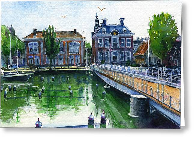 Town Hall Harlingen Netherlands Greeting Card by John D Benson