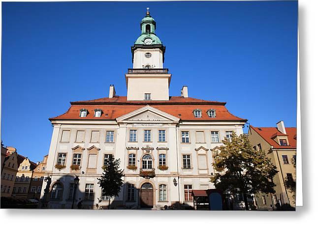 Town Hall In Jelenia Gora Greeting Card by Artur Bogacki