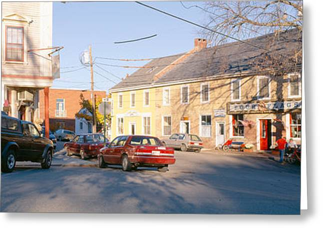 Small Towns Greeting Cards - Town Of Castine, Mount Desert Island Greeting Card by Panoramic Images