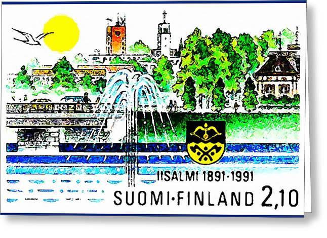 Fontain Greeting Cards - Town of Iisalmi Greeting Card by Lanjee Chee
