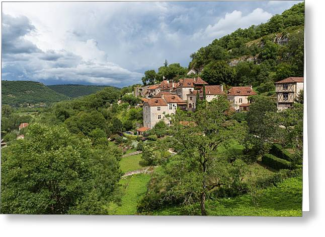 Collective Greeting Cards - Town of Saint Circ Lapopie in France Greeting Card by Semmick Photo