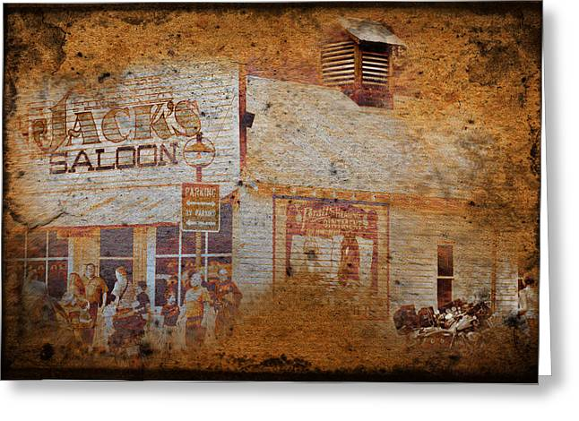 Saloons Greeting Cards - Town Saloon Greeting Card by Dale Stillman