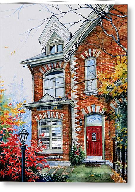 Townhouse Portrait Greeting Card by Hanne Lore Koehler