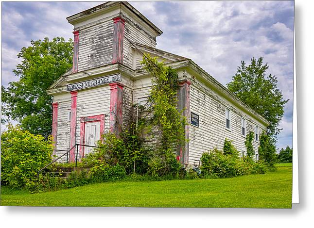 White Photographs Greeting Cards - Townsend Grange Hall Greeting Card by Steve Harrington