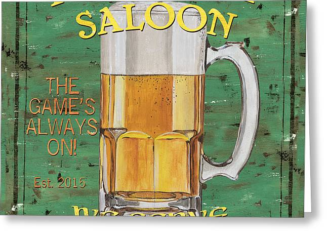 Hops Greeting Cards - Township Saloon Greeting Card by Debbie DeWitt