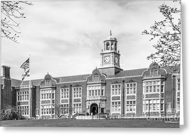 Md Greeting Cards - Towson University Stephens Hall Greeting Card by University Icons