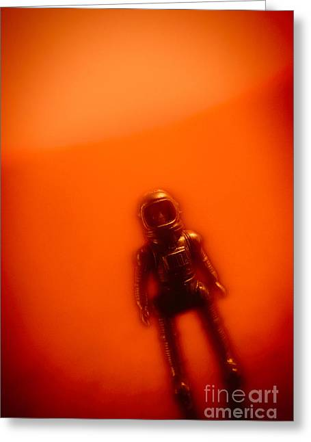 Heroic Red Men Greeting Cards - Toy Astronaut #2 Greeting Card by A Cappellari