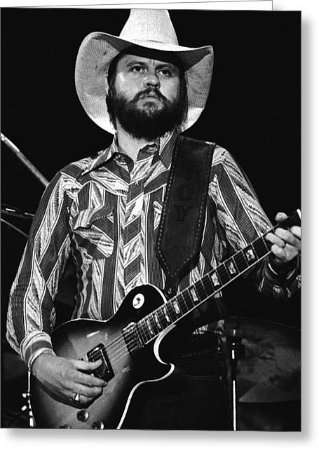 Toy Guitar Greeting Cards - Toy Caldwell Live Greeting Card by Ben Upham