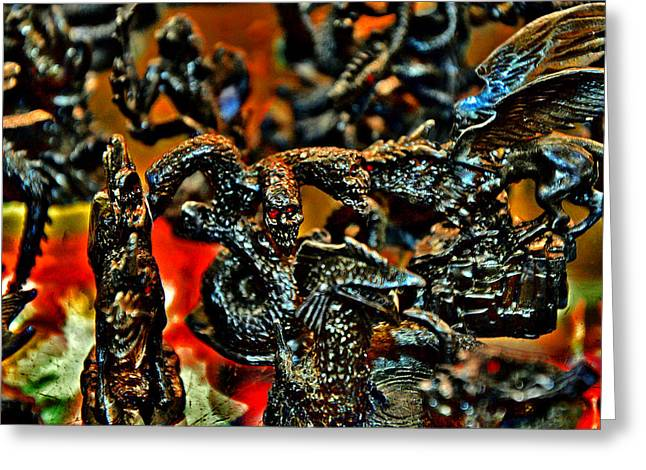 Greek Sculpture Greeting Cards - Toy Dragons. Greeting Card by Andy Za