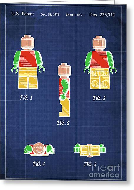 Toy Figure Patent Year 1979 Greeting Card by Pablo Franchi