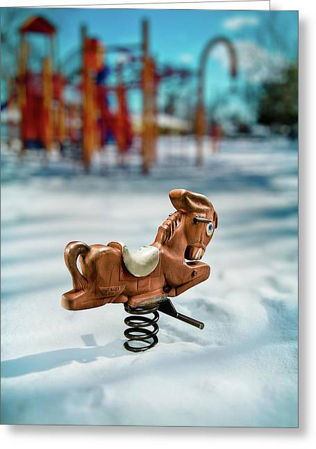 Exterior Greeting Cards - Toy Mule Greeting Card by Yo Pedro