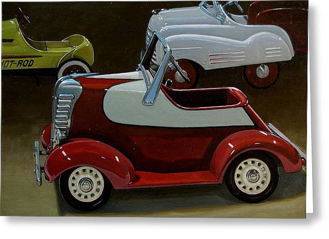 Toy Pedal Cars Greeting Card by Doug Strickland