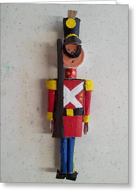 Produce Sculptures Greeting Cards - Toy Soldier Greeting Card by William Douglas