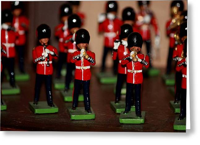 Marching Band Greeting Cards - Toy Soldiers Greeting Card by Christine Patterson