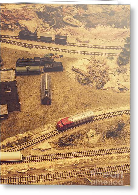Toy Train Set Greeting Card by Jorgo Photography - Wall Art Gallery