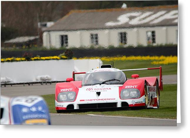 Before The Races Greeting Cards - Toyota LeMans Spin Greeting Card by Robert Phelan