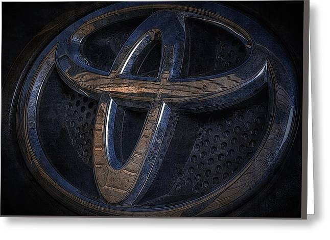 Toyota Rav 4 Emblem Greeting Card by Larry Helms