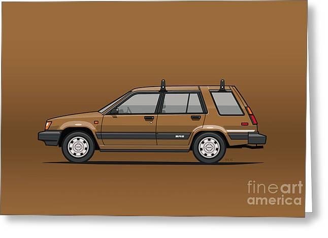 Toyota Tercel Sr5 4wd Wagon Al25 Bronze Greeting Card by Monkey Crisis On Mars