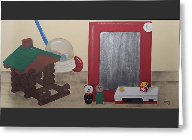 Gameroom Greeting Cards - Toys of Yesterday Greeting Card by Pam Proctor