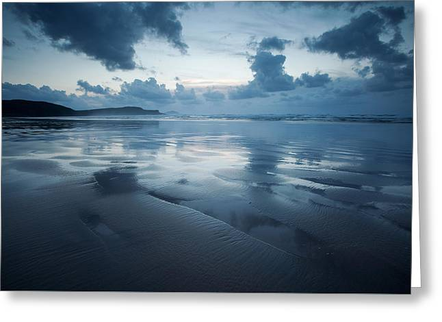 Sand Patterns Greeting Cards - Tra Mor Donegal Greeting Card by Peter McCabe