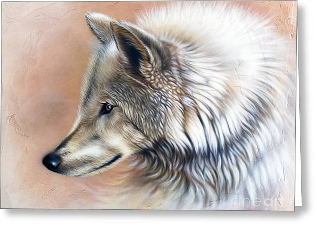 Wolf Song Studio Greeting Cards - Trace III Greeting Card by Sandi Baker