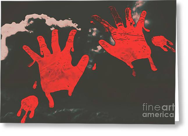 Trace Of A Serial Killer Greeting Card by Jorgo Photography - Wall Art Gallery