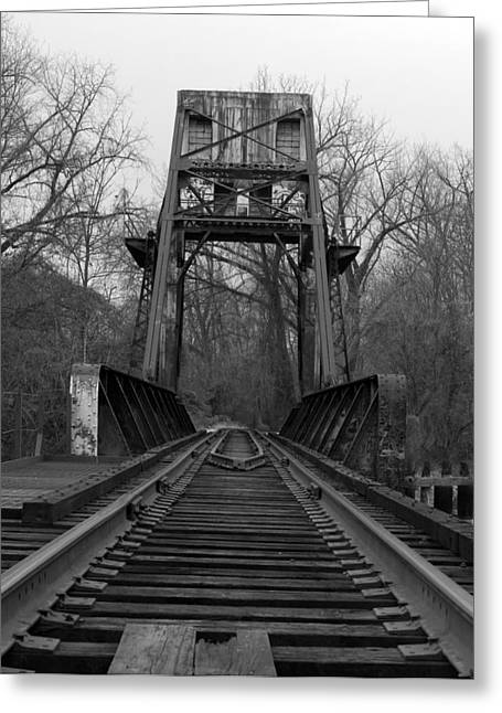 Train Bridge Greeting Cards - Tracking The Past Greeting Card by Kelvin Booker