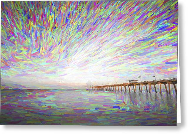 Tracking The Sky II Greeting Card by Jon Glaser