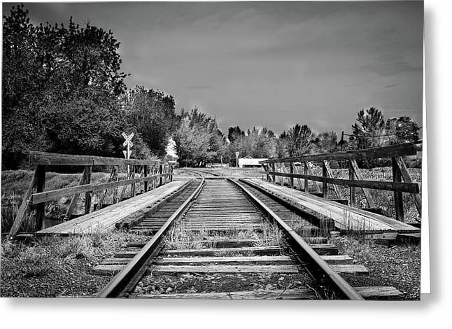 Telephone Pools Greeting Cards - Tracks 2 Greeting Card by Matthew Angelo
