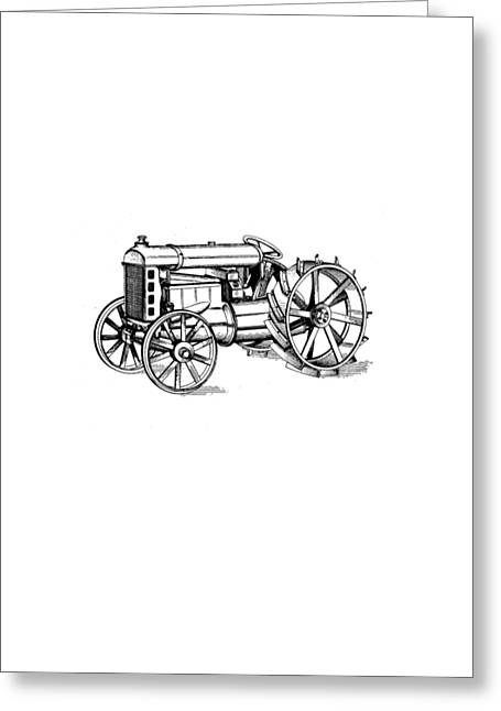 T Shirts Photographs Greeting Cards - Tractor 1919 Henry Ford T-shirt Greeting Card by Edward Fielding